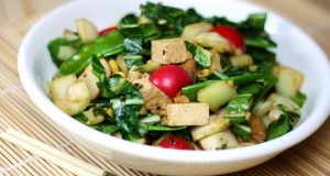 Spinach, Onion Tofu Stir fry