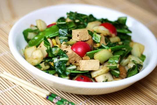 Onion Tofu Stir fry