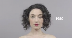 100 Years of Changes Beauty  in 1 Minute